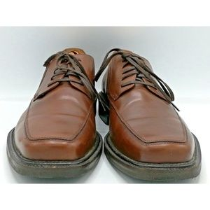 Jonston & Murphy SZ 10M Men Brown Leather Oxford